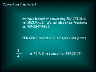 Converting Fractions 2