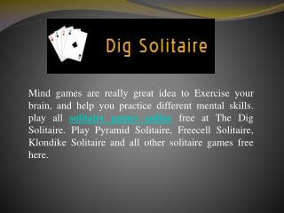 Play Solitaire Games Online Now
