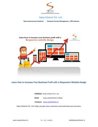 Responsive Website Design from Web designing company in India