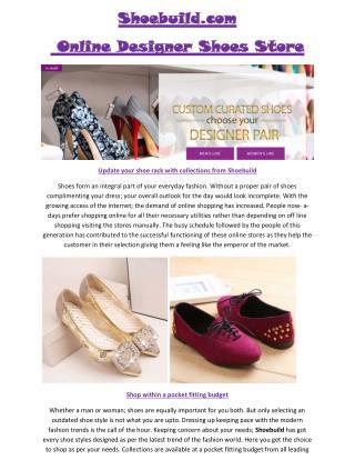 Shoe Build | Shoebuild.com