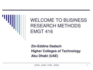 Business Research Metthods