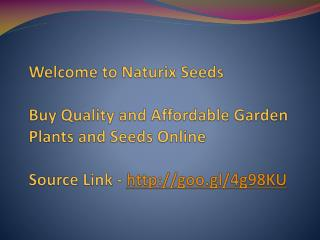 Buy Quality and Affordable Garden Plants and Seeds Online