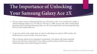The Importance of Unlocking Your Samsung Galaxy Ace 2X