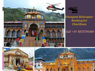 Helicopter Booking for Chardham