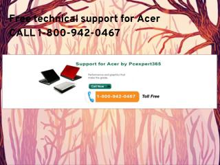 Tollfree-1-800-942-0467 Acer technical support number