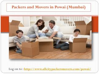 http://www.allcitypackersmovers.com/powai/ All City Packers and Movers in Powai is an established packers company in Ind