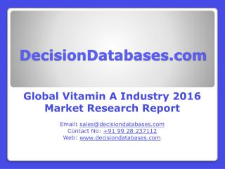 Global Vitamin A Market 2016: Industry Trends and Analysis