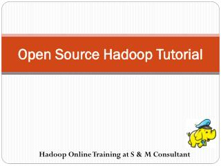 Hadoop Online training at S & M Consultant