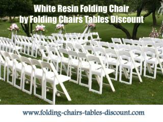 White Resin Folding Chair by Folding Chairs Tables Discount