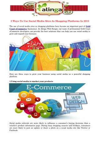 3 Ways To Use Social Media Sites As Shopping Platforms In 2015