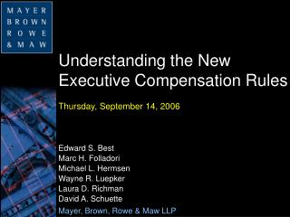 Understanding the New Executive Compensation Rules