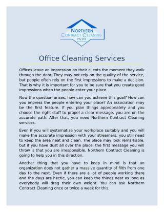 Hire the Best Office Cleaning services in Sydney