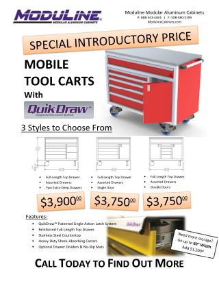 Mobile Tool Carts With Quik Draw for Your Modular Cabinets