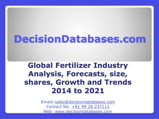 Fertilizer Market Trends, Growth Analysis and Forecasts 2014 - 2021