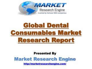 Global Dental Consumables Market will cross US$31.40 Billion Mark by 2022
