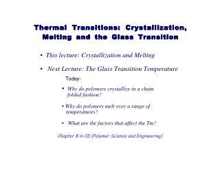 crystallization behavior
