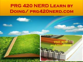 PRG 420 NERD Learn by Doing/ prg420nerd.com