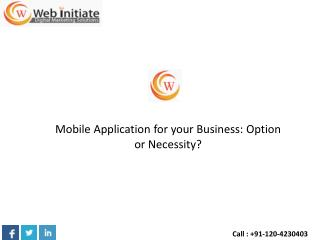 Mobile Application for your Business: Option or Necessity?
