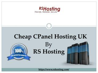 Cheap CPanel Hosting UK - RS Hosting