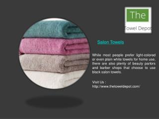 Quality Towels at your Salon