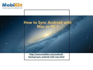 How to Sync Android with Mac or PC