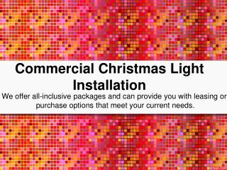 Commercial Christmas Lighting