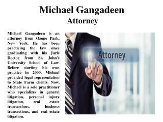 Michael Gangadeen Attorney
