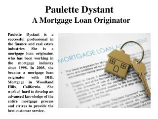 Paulette Dystant A Mortgage Loan Originator