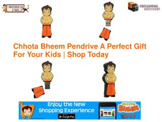 Chhota Bheem Pendrive A Perfect Gift for Kids