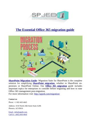 The Essential Office 365 migration guide