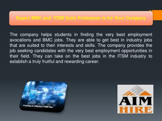 Expert BMC and ITSM Suite Profession is for Your Company
