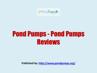 Pond Pumps - Pond Pumps Reviews