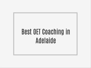 Best OET Coaching in Adelaide