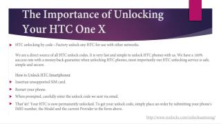 The Importance of Unlocking Your HTC One X