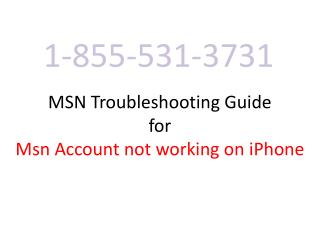 Msn Troubleshooting guide