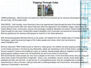 Tripping Through Cuba