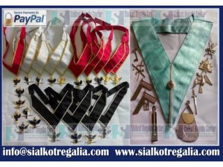 Masonic 32nd degree collar jewels