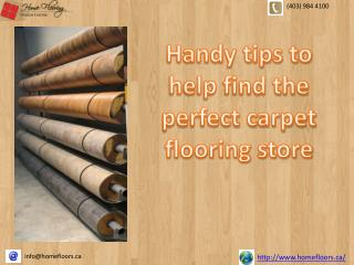 Handy tips to help find the perfect carpet flooring store