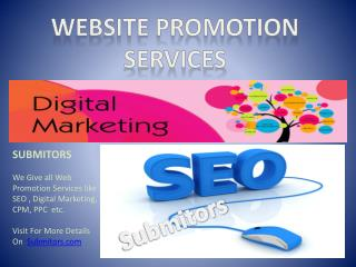 Promote Your Website in a week, Submit URL