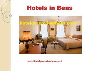 Hotels in Beas | HotelGreenViewBeas | Hotel in Beas