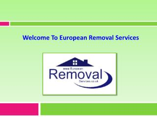 Cost-Effective & Speedy Removals Service from European Removal Services