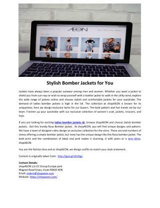 Stylish Bomber Jackets for You