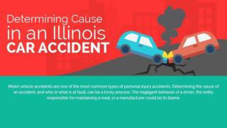 Determining cause in an illinois car accident