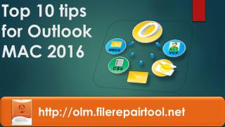 Top 10 tips for Outlook MAC 2016