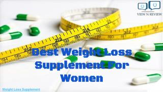 Best Weight Loss Supplement For Women | Viewnreview