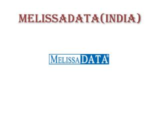 Melissa Data Address Verification and Validation Software in India