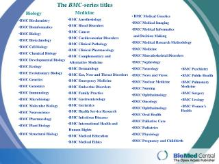 The  BMC -series titles