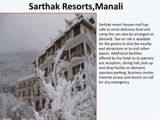 Book Sarthak Resorts Manali online