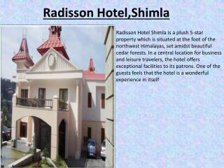 Book Radisson Hotel Shimla online