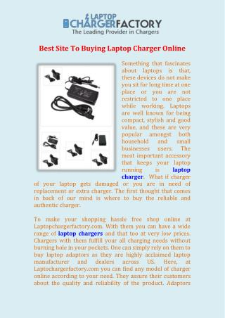 Best Site To Buying Laptop Charger Online